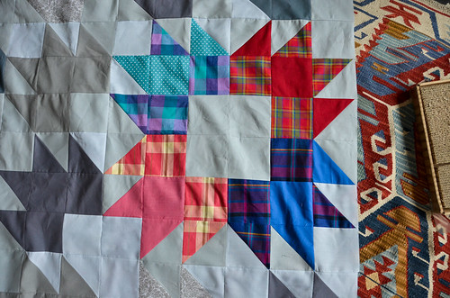 Modern Bear Paw Quilt Top
