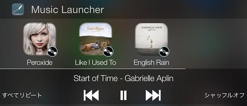iPhone_通知センター_ウィジェット_おすすめ_アプリ Music Launcher