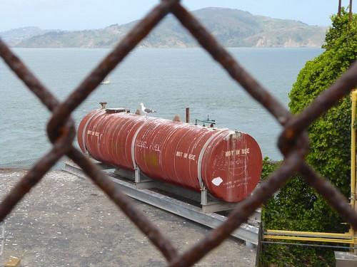 Diesel tank not in use, Alcatraz