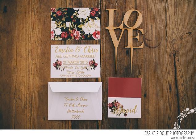 Winter wedding inspiration - stationary