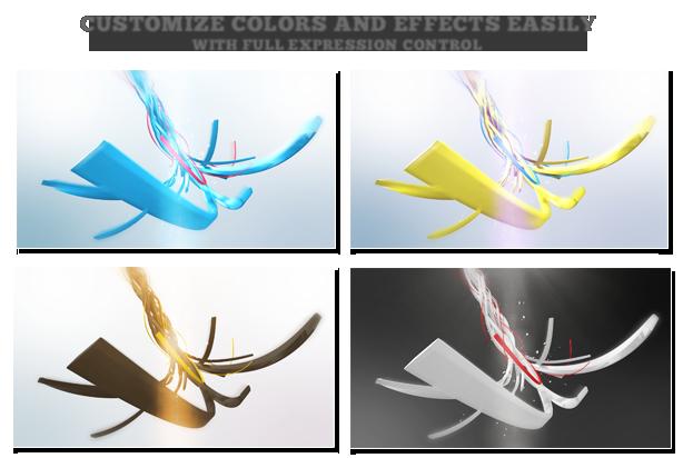 ribbon logo reveal by ouss videohive
