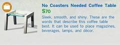 No Coasters Needed Coffee Table