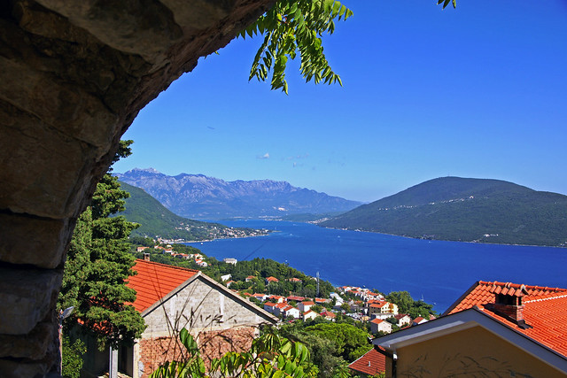 View from the old Fortress Spanjola, Montenegro
