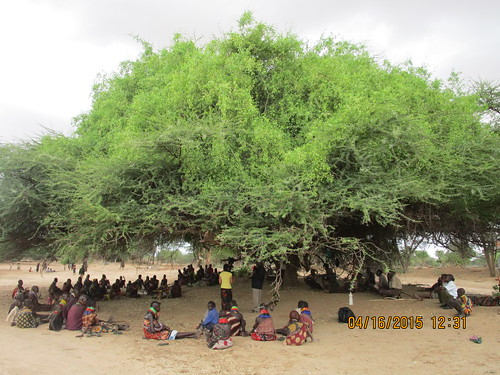 Preaching to the three tribes under a tree in the Turkana desert