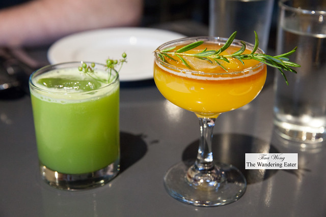 Our cocktails - Rites of Spring and La Luchadora Punch