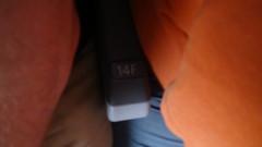 Seat 14F in N107NN