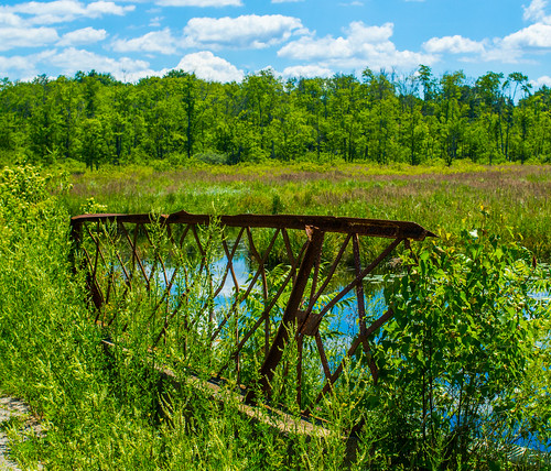 bridge summer water rural fence landscape pond rust hff canon35mmf2lens