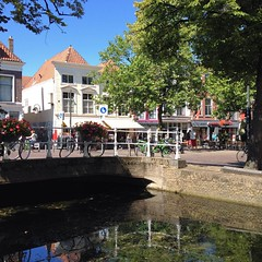 Enjoying the sunshine in beautiful #Delft in the #Netherlands . Easy to fall in love with this town immediately!   #aroundtheworld #holland #greynomads #worldnomads #visitholland