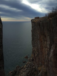 It's only a 300 ft cliff.. | Palisade Head, Silver Bay, MN