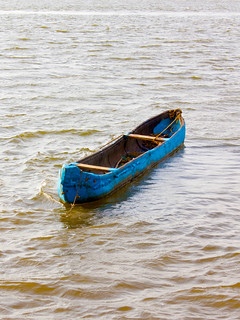 04. Isolated floating boat