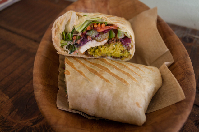 Halloumi wrap from We Love Falafel, Brighton.