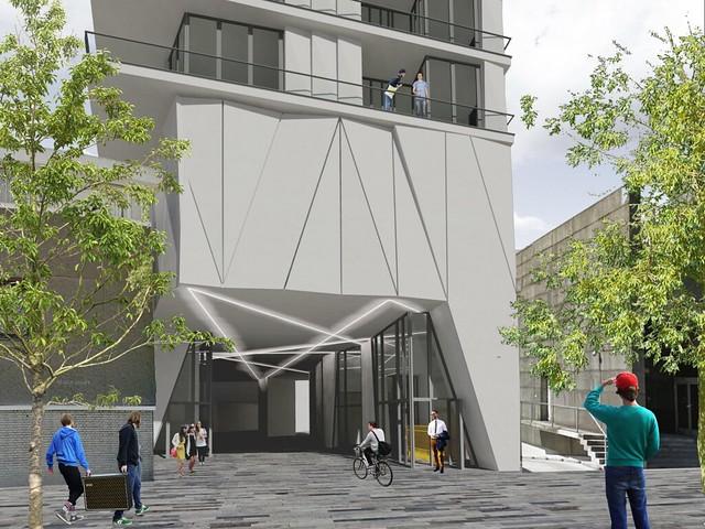 Woontoren De Metropool Kruiskade Rotterdam