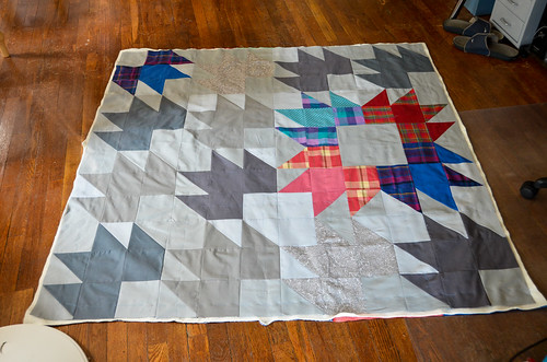 Step 7: Trim excess fabric, done with quilt sandwich!