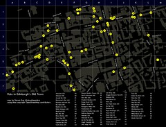 Map of Pubs in Edinburgh's Old Town