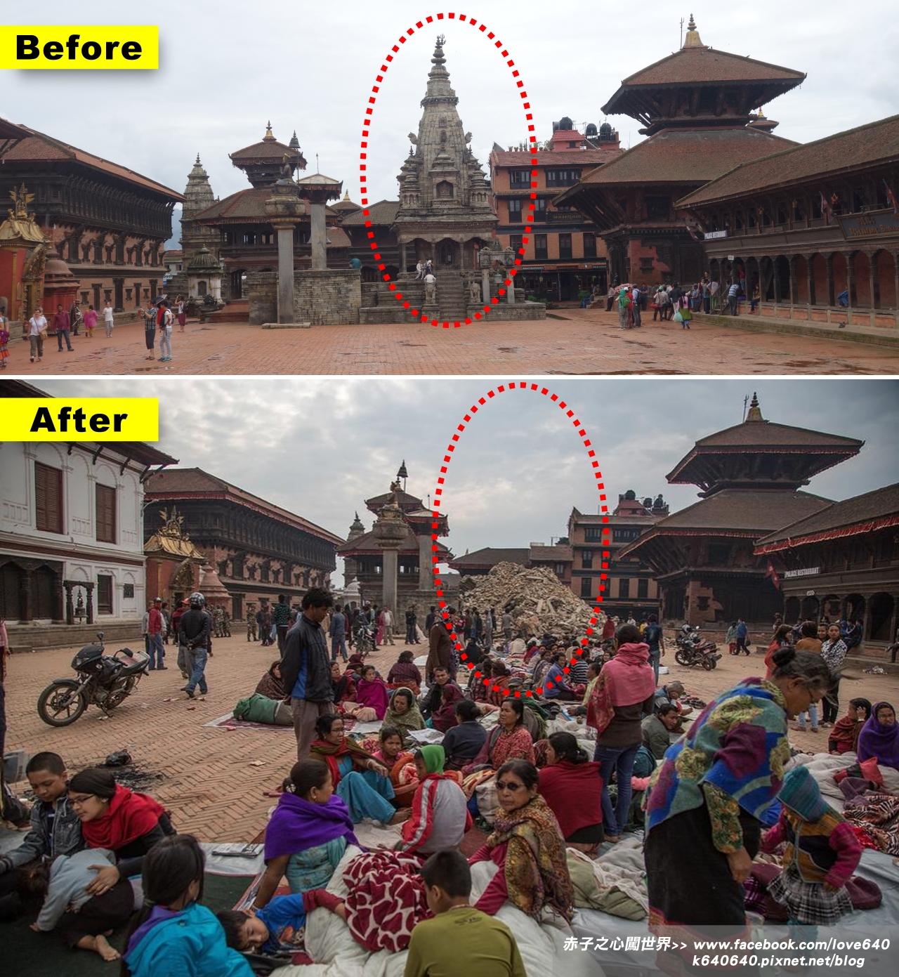 Nepal Kasthamandap earthquake-Bhaktapur