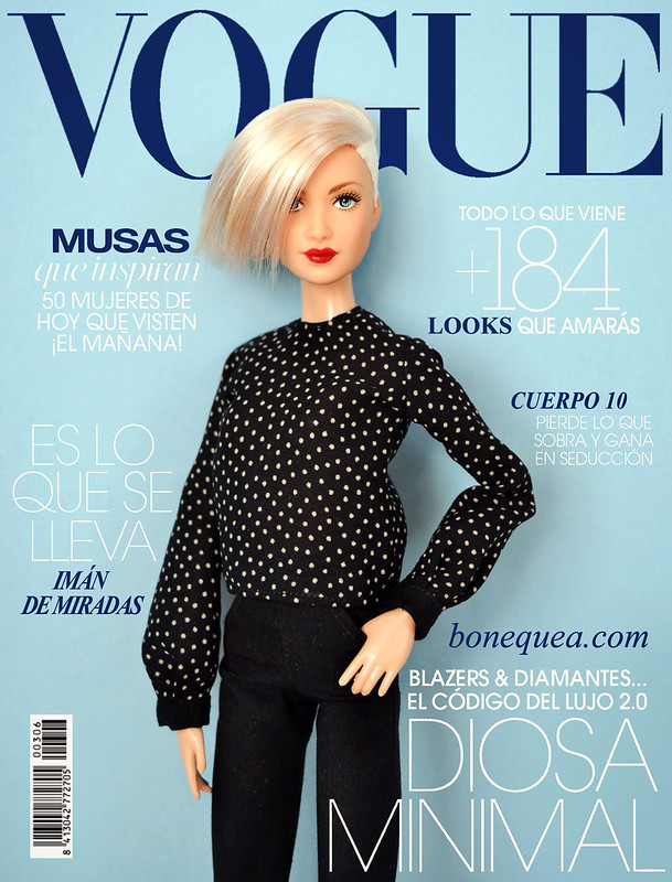 Vogue magazine: Ooak Vitamin C Barbie