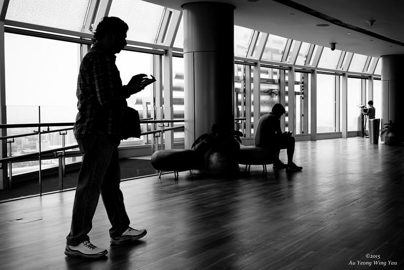 Visitors In Skyscraper Viewing Gallery