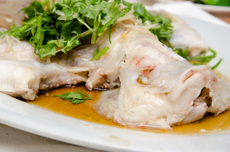 Green View Restaurant 长青海鲜饭店 Steamed Tilapia fish