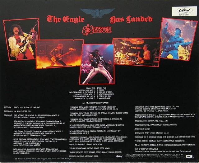 """SAXON - THE EAGLE HAS LANDED LIVE NWOBHM 12"""" LP"""
