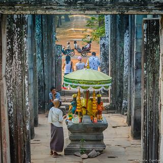Merchant at Bayon temple