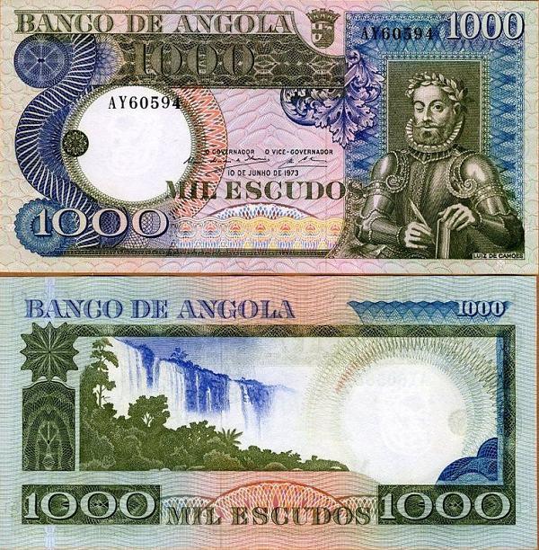 1000 Escudos Angola 1973