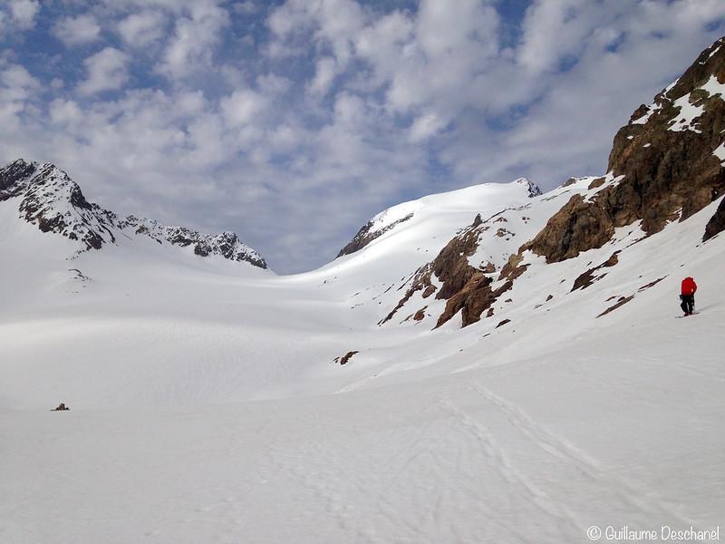 Le glacier de St Sorlin et notre objectif au loin