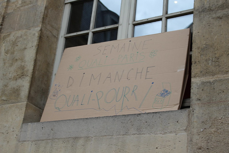 Manifestation des bibliothécaires parisiens le 12 mai 2016