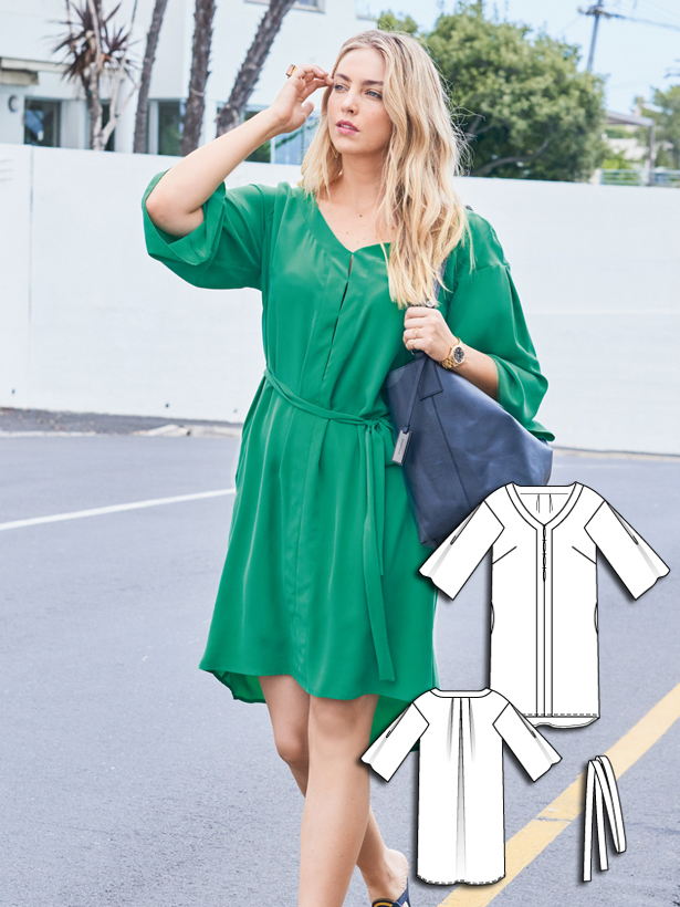 Flowy Dress (Plus Size) 06/2016 #130 – Sewing Patterns ...