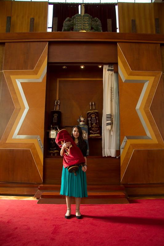 En la sinagoga con Nati