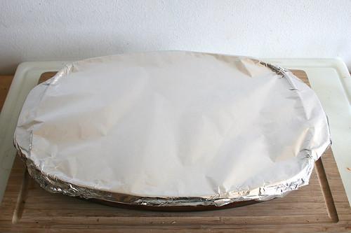 42 - Mit Alufolie abdecken / Cover with tin foil