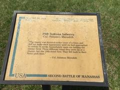 19th Indiana Infantry at Brawner's Farm at Manassas National Battlefield Park
