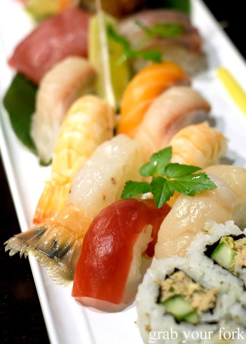 Tuna nigiri sushi at Ashin, Campsie