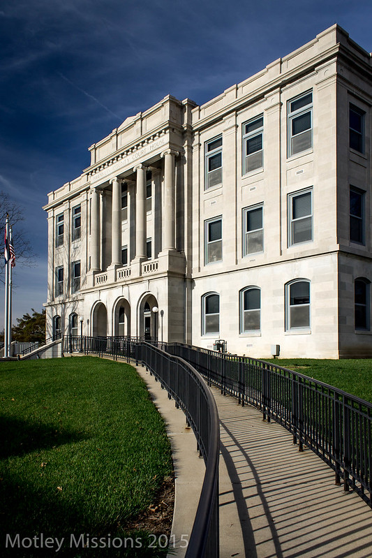 courthouse and sidewalk