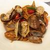 Chili clams pasta