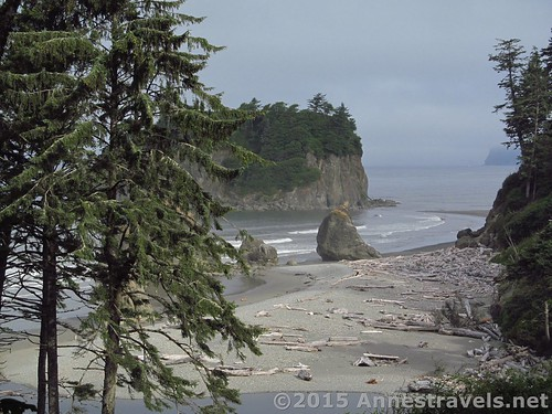 Looking down at Ruby Beach from the parking area, Olympic National Park, Washington