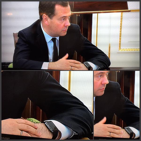 Медведев — рекламное лицо компании Apple