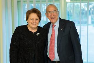 Laimdota Straujuma, Prime Minister of Latvia with Angel Gurría, Secreatary- General of the OECD