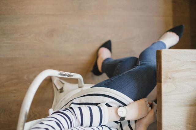 striped shirt jeans
