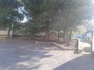 Il cortile dell'asilo di via Ginestre