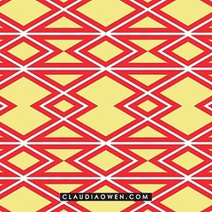 Geometric pattern design with a tribal feel #surfacedesign