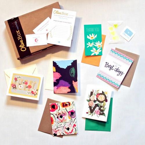 Olive Card Box - Spring