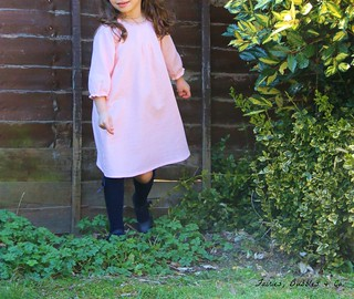"Smock Dress (view E) from the Book ""Sew Chic Kids"" in size 2 (100 cm)"