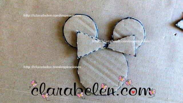Como dibujar el lazo de Minnie Mouse