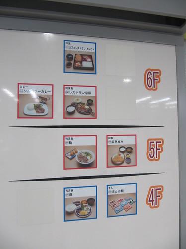 京都競馬場指定席エリアの食堂一覧