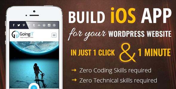 iWappPress v1.0.2 - Builds iOS App for any wordpress website