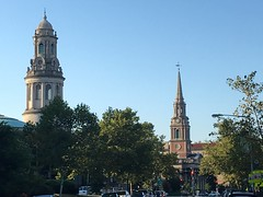 Church spires of 16th Street NW, Mount Pleasant, Washington, D.C.