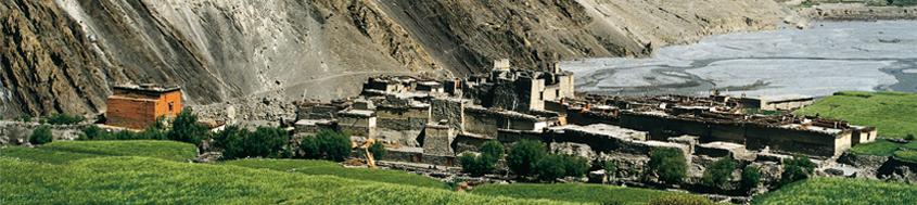 Lodge-Trekkingtour Nepal, Annapurna-Runde, Kagbeni im oberen Kali Gandaki. Foto: Günther Härter.