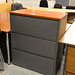 Grey lateral filing cabinet
