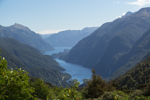 Doubtful Sound from Wilmot Pass overlook