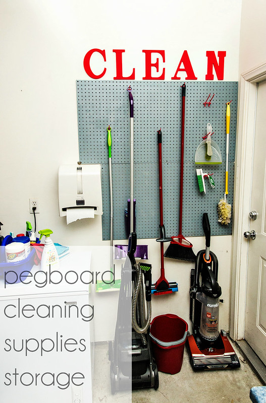 Pegboard Cleaning Supplies Storage Diy